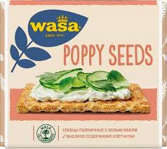<b>Wasa</b> Хлебцы пшеничные Маковые семена 240 г - Акушерство.Ru
