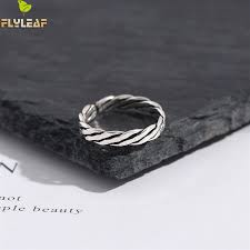 <b>Flyleaf</b> Twisted Braided Men Tail Ring <b>Vintage</b> Real 925 Sterling ...