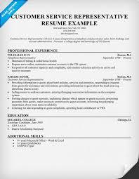 customer service representative resume objective customer services representative resume