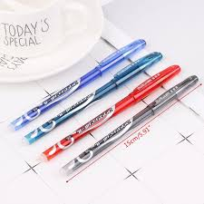 *J  *<b>12pcs 0.5mm Erasable Pen</b> Red Blue Black Refill Gel Ink <b>Pens</b> ...