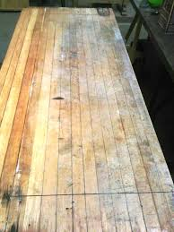 willy s wood restoration st paul furniture repair mn  maple butcher block table top 3 thick before restoration