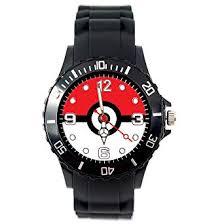 TAPORT® Pokemon Quartz Watch Black <b>Silicone</b> Band +<b>Free</b> Spare ...