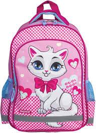 <b>Пифагор Рюкзак детский</b> Белая кошка цвет розовый белый ...