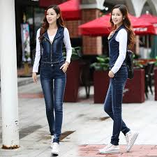 2019 <b>2016 New</b> Fashion Denim Casual <b>Suspender</b> Pants Jeans ...