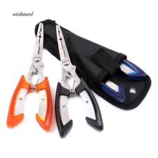Stainless Steel <b>Fishing Pliers</b> Scissors <b>Line</b> Cutter Remove Hook ...