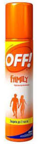 "<b>Аэрозоль</b> от комаров <b>OFF</b>! ""Family"", 100 мл | Купить с доставкой ..."