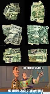 Hidden messages in dollar bill | Memes.com via Relatably.com