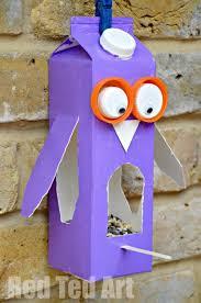 Juice Carton Crafts: <b>Owl Bird</b> Feeder - Red Ted Art