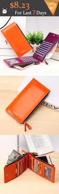Women Waxy <b>Ultra Thin</b> Leather Long Purse Multi Card Holder ...