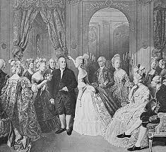benjamin franklin   american author  scientist  and statesman    benjamin franklin at the court of france    engraving after a painting by hobens