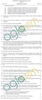 cbse class quarterly question papers business studies