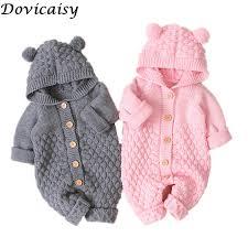 <b>Baby</b> knit Rompers <b>Cartoon</b> Bear Knitted autumn <b>Newborn Boys</b> ...