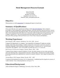 resume retail manager duties cipanewsletter retail stores retail manager and resume retail