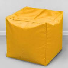<b>Пуфик бескаркасный Кубик</b> Желтый, оксфорд - <b>MyPuff</b>