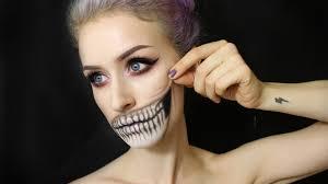 half skull makeup tutorial by kayla hagey 2016 06 29