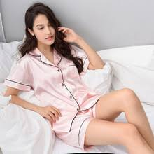 Buy pajamas <b>woman summer short</b> plus size and get free shipping ...