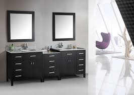 black polished double sink ikea bathroom