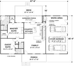 Versatile Ranch in Mutiple Versions   GA   st Floor Master    Floor Plan