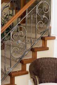 Custom Stair Railing Iron Stair Rails And Banisters Sylvans Custom Iron Works