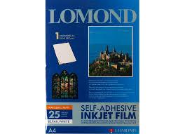 <b>Lomond</b> PET <b>Self</b>-<b>Adhesive</b> White <b>Ink</b> Jet Film A4, 100 мкм, 25 ...
