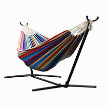 denim double hammock with space saving steel stand cheap space saving furniture