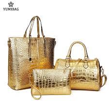 YumiBag  Three-piece bag women <b>2019 new crocodile pattern</b> ...