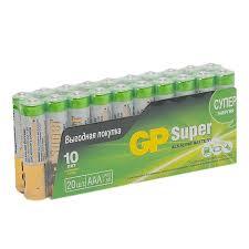 Батарейка <b>GP</b> Batteries Super (<b>GP</b> 24A-2CRVS20) 1,5 В (20 шт ...