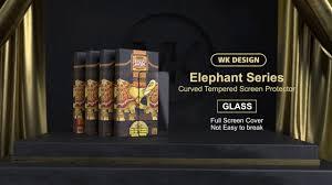 <b>Защитное стекло</b> с рамкой 6D <b>WK</b> Elephant для телефона ...