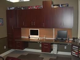 monster built in home office desk w 3 workspaces built office desk