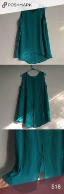 top 25 ideas about s interview questions teal sleeveless blouse light polyester sleeveless blouse top back slit lower back i