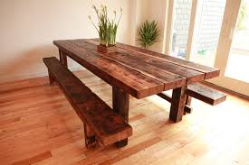 small dining bench: kitchen tables wood solid wooden kitchen tables with bench