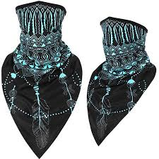 Men Women Sun Protection Ice Silk <b>Triangle</b> Scarf Face <b>Mask</b> Neck ...