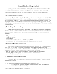 resume tips for college students berathen com resume tips for college students for a student resume of your resume 4