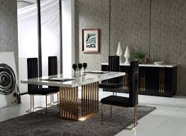 astonishing modern dining room sets: astonishing modern dining sets with black fabric seats added with grey rugs and white marble table downloads full x