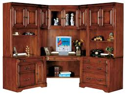 corner office desk hutch brown lacquer teak wood home office corner desk with hutch using black chic corner office desk oak corner desk