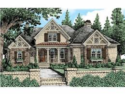 Tudor House Plan   Square Feet and Bedrooms from Dream    Front
