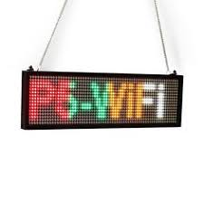 <b>82CM SMD</b> P5 Indoor Window Wireless LED Sign Red Scrolling ...
