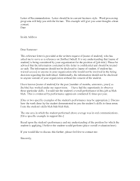 best photos of sample business letter of recommendation reference letter examples
