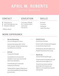 résumé templates   canvapink and gray résumé