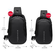 <b>Multifunction</b> Crossbody <b>Bags</b> Men USB Charging Chest <b>Pack</b> Short ...