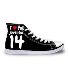 <b>WHEREISART</b> Juventus 2018 Football Men's High Top Vulcanize ...