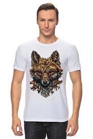 """Мужские футболки c неординарными принтами """"<b>лиса</b>"""" - купить в ..."""