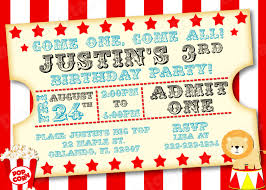 carnival invitations template com circus ticket invitation template
