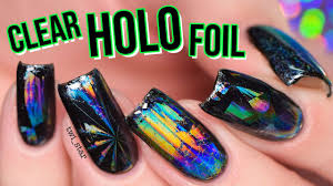 <b>Holo</b> Heaven! CLEAR <b>Holographic Nail Foil</b> - YouTube