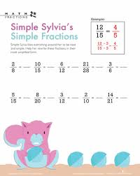 Simplifying Fractions Worksheets & Free Printables | Education.comWorksheet. Simple Fractions with Sylvia