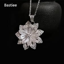 <b>Bastiee</b> Hmong <b>999 Sterling</b> Silver Flower Pendant For Women ...