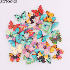 2019 <b>ZOTOONE Wooden</b> Sewing Buttons Scrapbooking Colorful ...