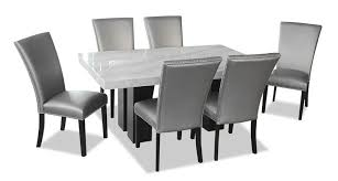 Cami <b>7</b>-<b>Piece Dining Set</b> - Grey | The Brick