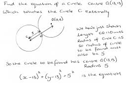 further maths wjec c coordinate geometry of the circle when two circles touch externally the distance between the centres is equal to the sum of the radii