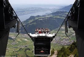 التلفريك المكشوف الأول في العالم فى مدينة لوسيرن السويسرية